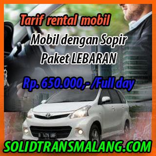 Tarif Lebaran Rental Mobil Sopir
