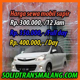 Harga Sewa Mobil Supir